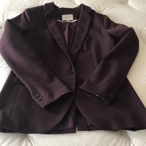 LOFT Two Button Burgundy Blazer Size 4